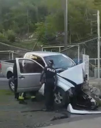 Police on the scene of the accident at Baughers Bay on August 11, 2019. Photo: Team of Reporters