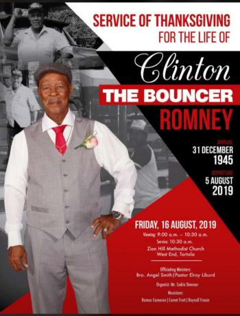 The funeral for Mr Clinton E. Romney aka 'The Bouncer' will be held on Friday August 16, 2019. Photo: Team of Reporters