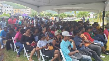 Some of the persons at the launch of the 1000 Jobs in 1000 Days employment initiative at Central Administration Complex on Wickham's Cay 1, Tortola, today, August 21, 2019. Photo: VINO