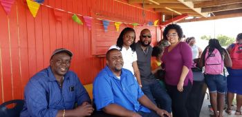 Premier and Minister of Finance Honourable Andrew A. Fahie (AL), 2nd from left, with some of his Virgin Islands Party (VIP) Government team at the Back to School Fiesta on Virgin Gorda on August 25, 2019. Photo: VINO