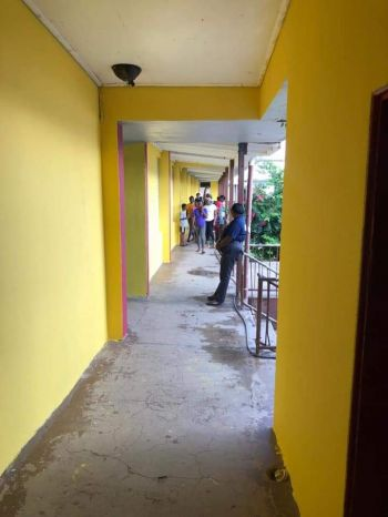 Freshly painted walls at the Bregado Flax Education Centre on Virgin Gorda. Photo: VINO