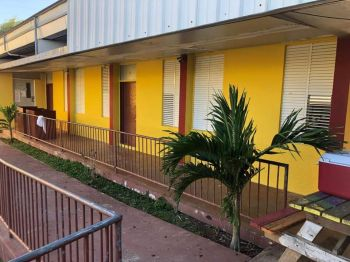 The Bregado Flax Education Centre on Virgin Gorda is getting a face lift ahead of the official re-opening of school on September 2, 2019. Photo: VINO