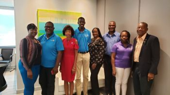 Some of the members of Rotary at a press conference held at Ogier's Conference Room, 3rd Floor Ritter Building, Wickham's Cay I, on September 3, 2019. Photo: VINO