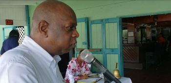 Following the four-hour telethon on September 11, 2019, it was announced that some $145,000 had been raised; however, that figure has since risen to $160,000, according to Past President Lloyd K. Black, speaking at the Rotary Club of Tortola luncheon at The Pub at Fort Burt Marina on Thursday, September 19, 2019. Photo: Team of Reporters