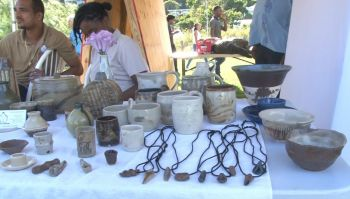 Some of the items on display at the Festival of Arts held in honour of cultural icon and legislator, the late Delores Lettsome-Christopher, at Queen Elizabeth II Park on Saturday November 2, 2019. Photo: VINO