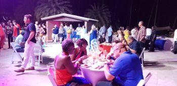 Hundreds supported the BVI Gourmet Soiree at Scrub Island on November 7, 2019. Photo: VINO