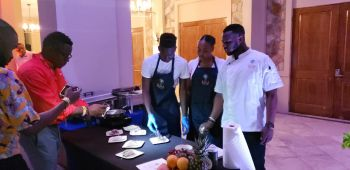 Some of the chefs at the BVI Gourmet Soiree at Scrub Island on November 7, 2019. Photo: VINO