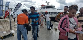 Patrons stream in for Anegada Lobster Festival 2019. Photo: VINO