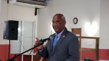 Minister for Natural Resources, Labour and Immigration, Honourable Vincent O. Wheatley held his first town hall meeting on January 23, 2020 since elected on February 25, 2019. Photo: VINO
