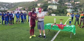 The Golden Glove award, which goes to the most outstanding goalkeeper, went to Lindell Williams of Sugar Boys. Photo: VINO