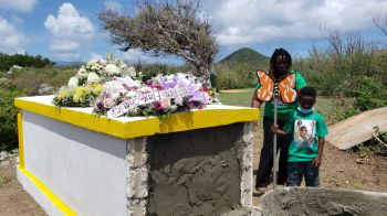 The late Beryl B. Vanterpool was laid to rest on family land overlooking the sea in Virgin Gorda. Photo: VINO