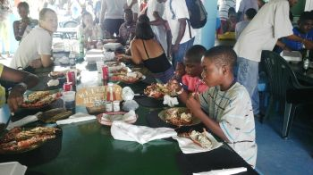 The 2013 Anegada Lobster Festival opened today, November 30 with much anticipation and excitement on the sister island of Anegada. Photo: VINO