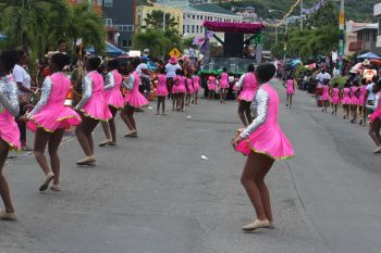 Scene from the 2013 Emancipation Festival's August Monday Parade in Road Town on August 5, 2013. Photo: VINO