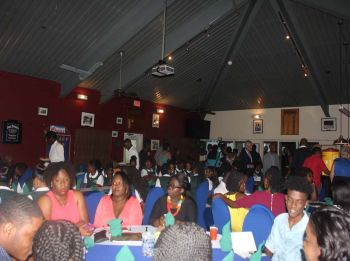 Scenes from the St George's Secondary School Interact Club induction ceremony. Photo: VINO