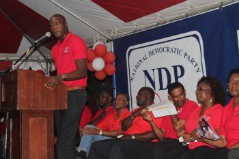 The NDP members, in particular Hon Walwyn Myron V. Walwyn and Minister for Communications and Works and Fourth District Representative, Hon Mark H. Vanterpool, have constantly and loudly praised Premier Dr The Honourable D. Orlando Smith as a good leader. This is even as reports are that the two candidates in particular are poised to take up the premiership should Dr Smith demit office due to health reasons even if NDP is returned to power. The party has publicly dismissed such reports, however. Photo: VINO