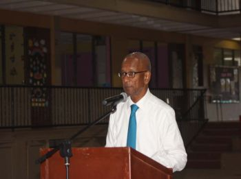 Dr The Honourable D. Orlando Smith (AL), Premier and Minister of Finance, has commented that he is not aware of the situation of banks quickly selling off the property of persons in default, but will look into it. Photo: VINO