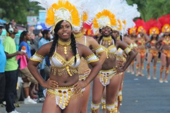 A sea of large, colourful and enthusiastic troupes were the order of the day as the Virgin Islands Emancipation Festival's Annual August Monday Parade kicked off yesterday, August 5, 2013. Photo: VINO