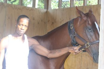 Speaking with Ira 'Birdman' Callwood of No Limit Racing Stables and trainer of Sweet Sight, who hails from St Thomas, Virgin Islands News Online was told that once the horse went out and took to the track its chances would be good in winning the race. Photo: VINO