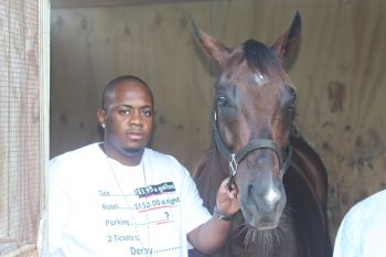 Rasheed Creque, also of St Thomas, felt that even though all the horses might appear even in the Premier's Cup, Twisted Dream still stood a chance of emerging victorious because he was well conditioned. Photo: VINO