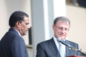 Dr The Honourable Kedrick D. Pickering returns to office as Minister for Natural Resources and Labour. Photo: VINO