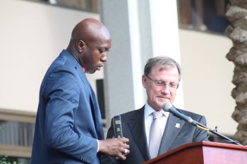 Honourable Myron V. Walwyn returns to serve another term as Minister for Education and Culture. Photo: VINO