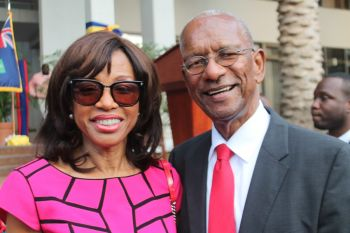 First Couple! Premier Dr The Hon D. Orlando Smith and wife Lorna G. Smith OBE. Photo: VINO