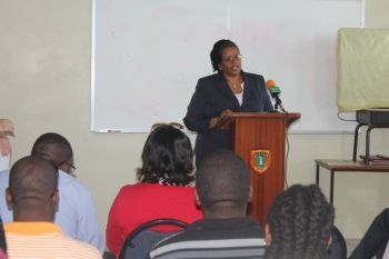 """From my focus discussion I went home reflecting on some of the things that they said to us and they got real with us in those sessions,"" said Coordinator, Office of Gender Affairs Ms Lorolie Conner at the closing ceremony earlier today August 29, 2014. Photo: VINO"