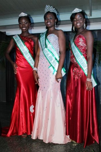 The three contestants of this year's first ever Miss Earth BVI pageant. From left: Miss Shona Rogers, Miss Kimberly Herbert and Miss Jaidene Webb. Photo: VINO