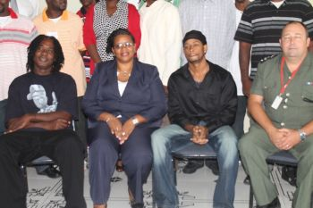It was the occasion of the graduation ceremony for some 10 male prison inmates who successfully completed a 16 weeks anger management programme executed under Her Majesty's Prison's Partnership for Peace programme. Photo: VINO