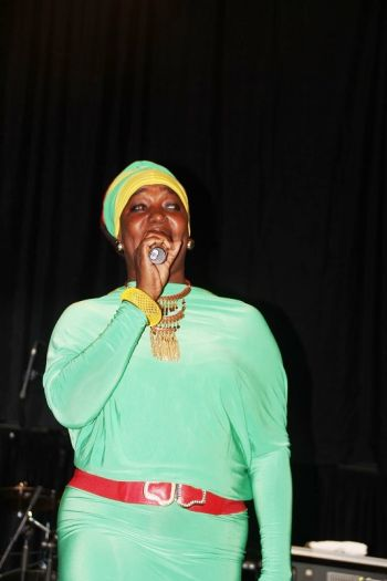 Calypso Queen Sistah Joyce took off her crown to deliver some Reggae tunes. Photo: VINO