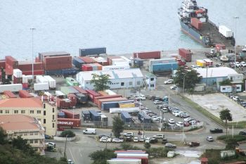 The ports facility at Port Purcell, Virgin Islands. Experts have warned that supply chain impacts that will come as a result of the Suez Canal blockage could last for months. Photo: VINO/File