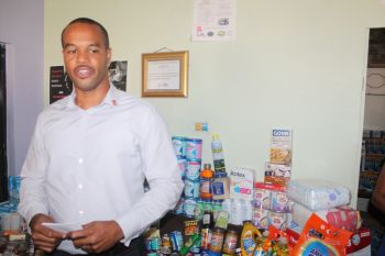President of the Rotary Club of Tortola Mr Henry O. Creque described the figure of $15K as a 'conservative estimate' for the supplies donated over the weekend. Photo: VINO