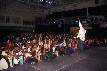 A packed Multi-Purpose Sports Complex witnessed the legendary Jamaican artiste Beres Hammond live. Photo: VINO