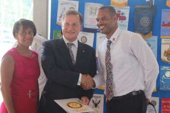 Yesterday September 4, 2014 Governor John S. Duncan was inducted as a member of the Rotary Club of Tortola, as is customary for new Governors. Photo: VINO