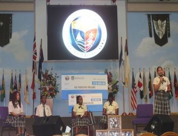 Students of the BVI Seventh-day Adventist School giving their input to the recovery and development plan. Photo: VINO