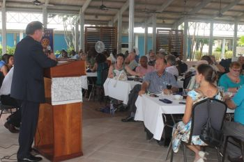 The Governor was addressing a gathering of businessmen and women of the Virgin Islands and others who all made up the Rotary Club of Tortola family. Photo: VINO
