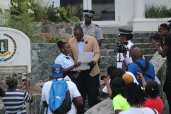 Acting Governor David D. Archer has been tasked with ensuring that the signed petition be sent to the Queen. Photo: VINO