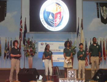 Cedar International School proposing their ideas on the recovery and development plan. Photo: VINO