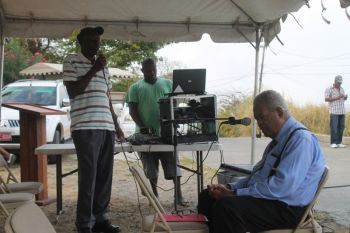 It was announced at the commencement of the meeting that it was the very first face to face meeting Hon Ralph T. O'Neal OBE was having with residents of Virgin Gorda since the 2011 national elections. Photo: VINO