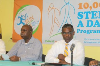 Being the Chairperson of the Inter-Developmental Technical Working Group, BVI Health and Wellness Council Honourable Archibald C. Christian was present at the launch activities where he alluded to statistics that give testimony to the fact those persons need to take health seeking behaviours more seriously. Photo: VINO