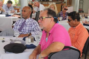 Some of the persons who attended the Rotary Club of Tortola's Luncheon Meeting on June 18, 2015 when a special discussion was held on the media in the Virgin Islands. Photo: VINO