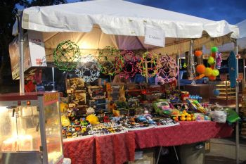 One of the booths at Christmas on DeCastro Street. Photo: VINO