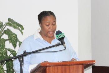 Representative for Sandwise Ltd, Mrs Roxanne Ritter Herbert thanked the government for the opportunity and said it was a new adventure for the company given the CDB guidelines involved in the project. Photo: VINO