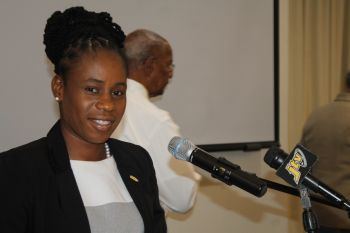 Information and Education Manager at DDM Philomena N. Robertson said that the agreement with the BVIAA is an important one for the department as efforts are being made in the BVI to reduce risk and improve resilience. Photo: VINO