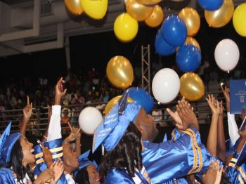 The Elmore Stoutt High School (ESHS) recorded a 98% pass rate, with 159 students successfully achieving all requirements to graduate. Photo: VINO