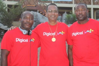 Promoters of the DeCrew grand BBQ, car sound off, fashion show and fun day. From left: Rayon D. Bethune, Mr Isaac Ragnauth and Sherwin A. Peters. Photo: VINO