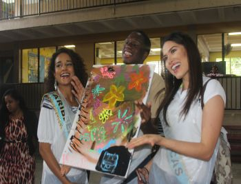 A finished product of the painting activity with students of Eslyn Henley Richiez Learning Centre. Photo: VINO