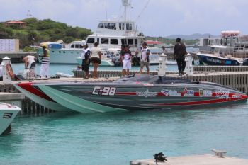 Scene from the BVI Exquisite Boat Show held at Scrub Island Resort on May 24, 2014. Photo: VINO