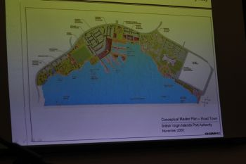 Above: A conceptual master plan shown during the disclosure of findings for the Environmental Impact Assessment (EIA) for the Cruise Pier Development project. Photo: VINO