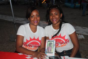 Digicel was on the spot with special offers for patrons of the event. Photo: VINO